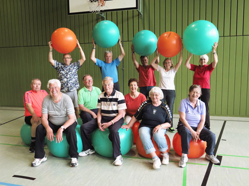 Physiotherapie -Sportgruppe  der SHG in der BG